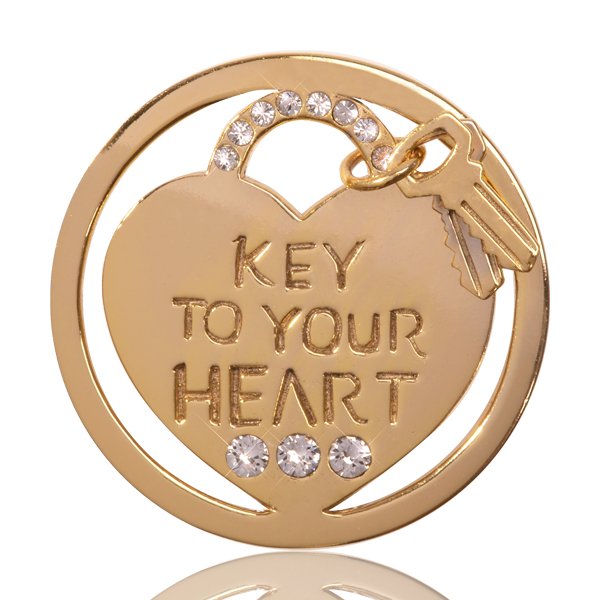 Nikki Lissoni Coin C1290GM - Key to your Heart - Medium