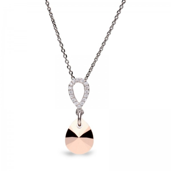 Spark Silver Jewelry Pear Drop Kette mit Anhänger Rosé Gold