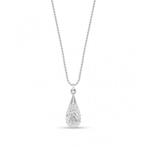 Spark Silver Jewelry Pave Drop Collier Crystal