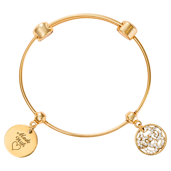 Nikki Lissoni Armreif B1091G - Good vibes - Charm Bangle