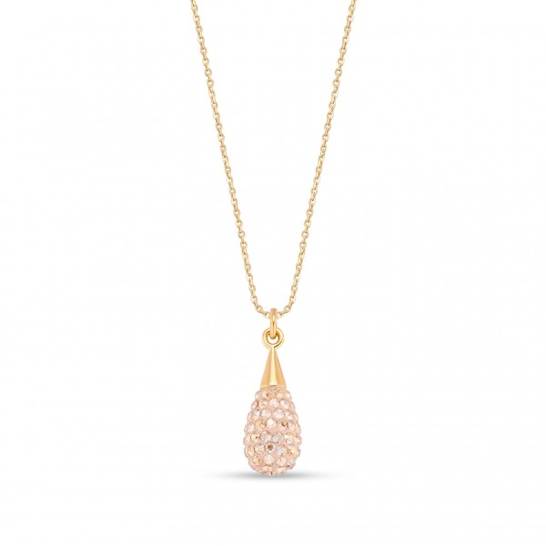 Spark Silver Jewelry Pave Drop Collier Golden Shadow