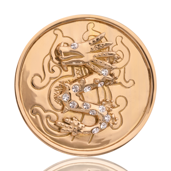 Nikki Lissoni Coin C1019GM - Chinese Dragon - Medium